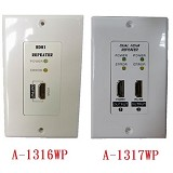 A-1316WP /A-1317WP : Single HDMI Repeater Wall Plate / Dual HDMI Repeater Wall Plate