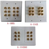 A-1095 / A-1143 / A-1143AU : 12 Post Speaker Wall Plate for Dolby 5.1-High Quality
