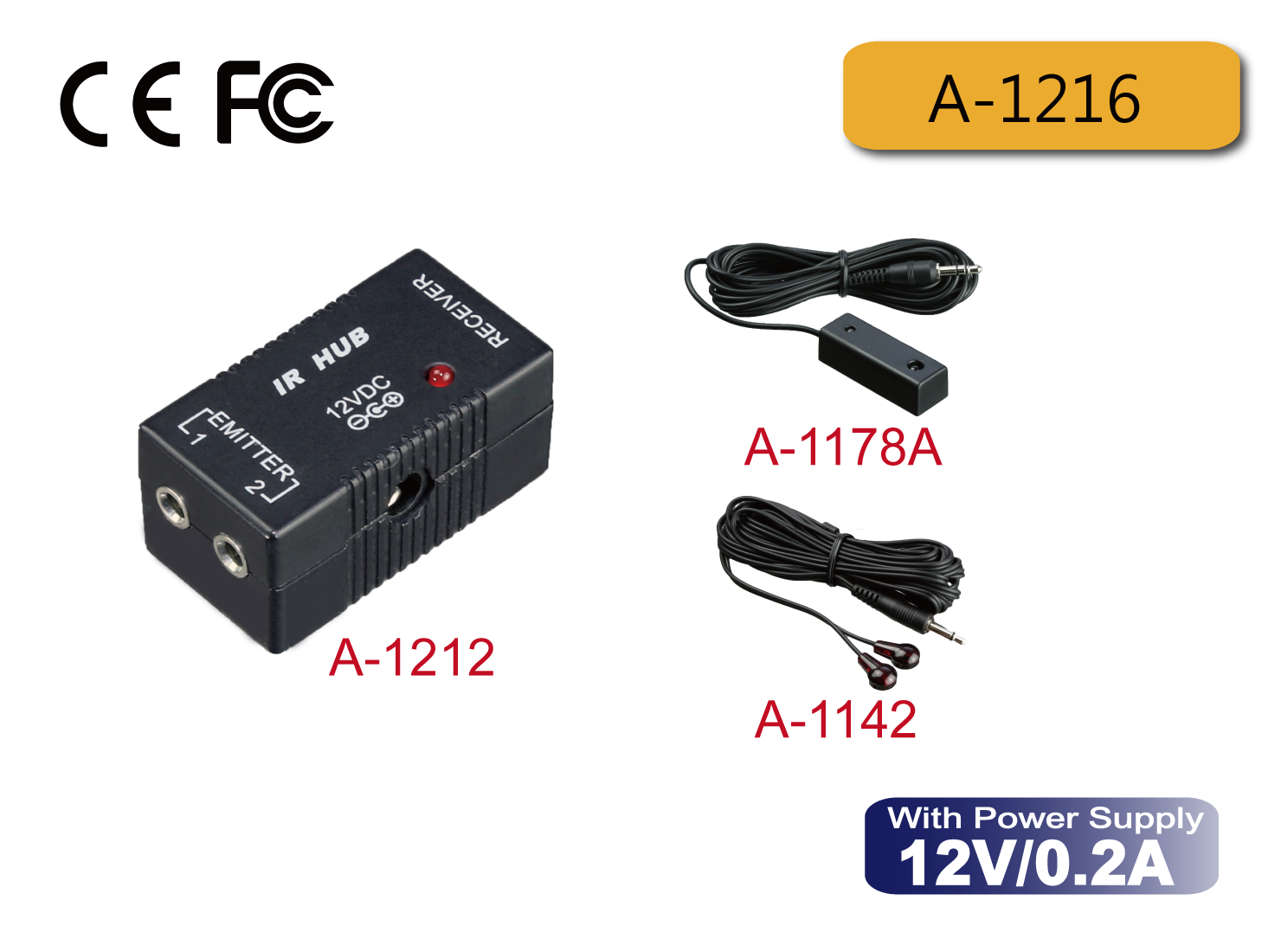 A-1216 : Basic IR Repeater Kit