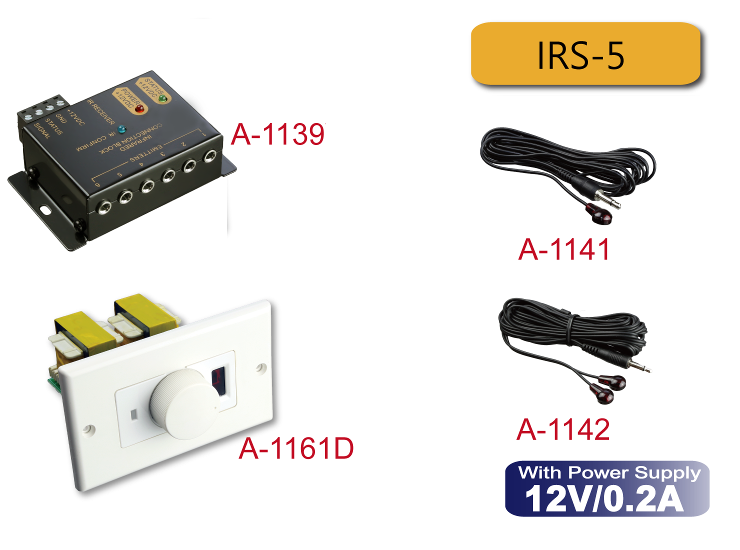 In Wall Volume Control With Ir Kit Irs 5 Ten Tronics Co Ltd