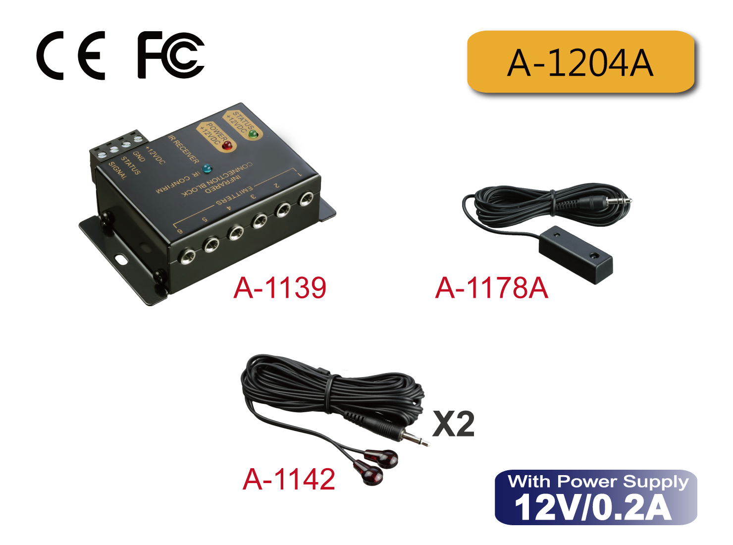 A-1204A : Standard IR Repeater Kit