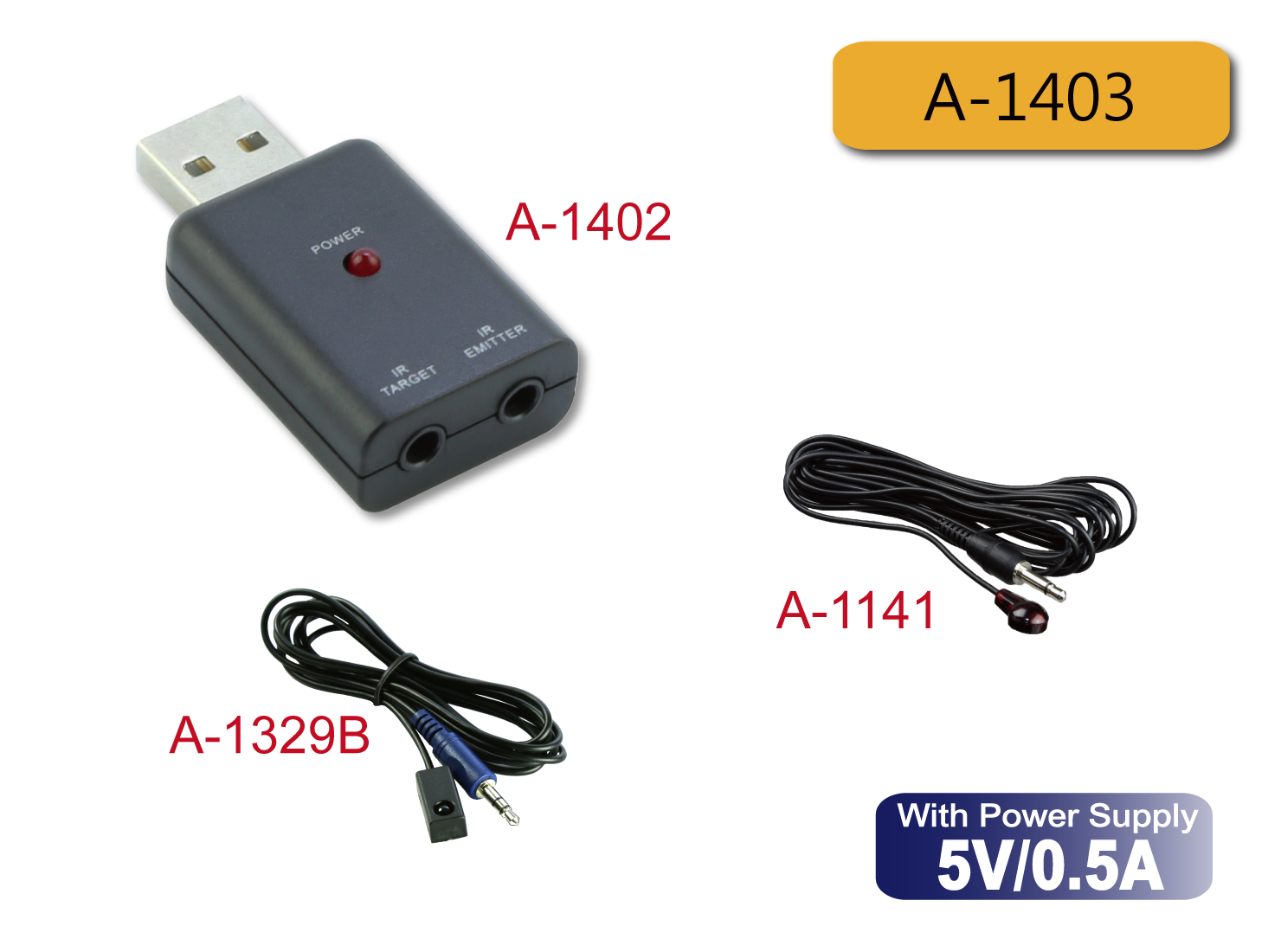 A-1403 : USB Powered IR Repeater Kit
