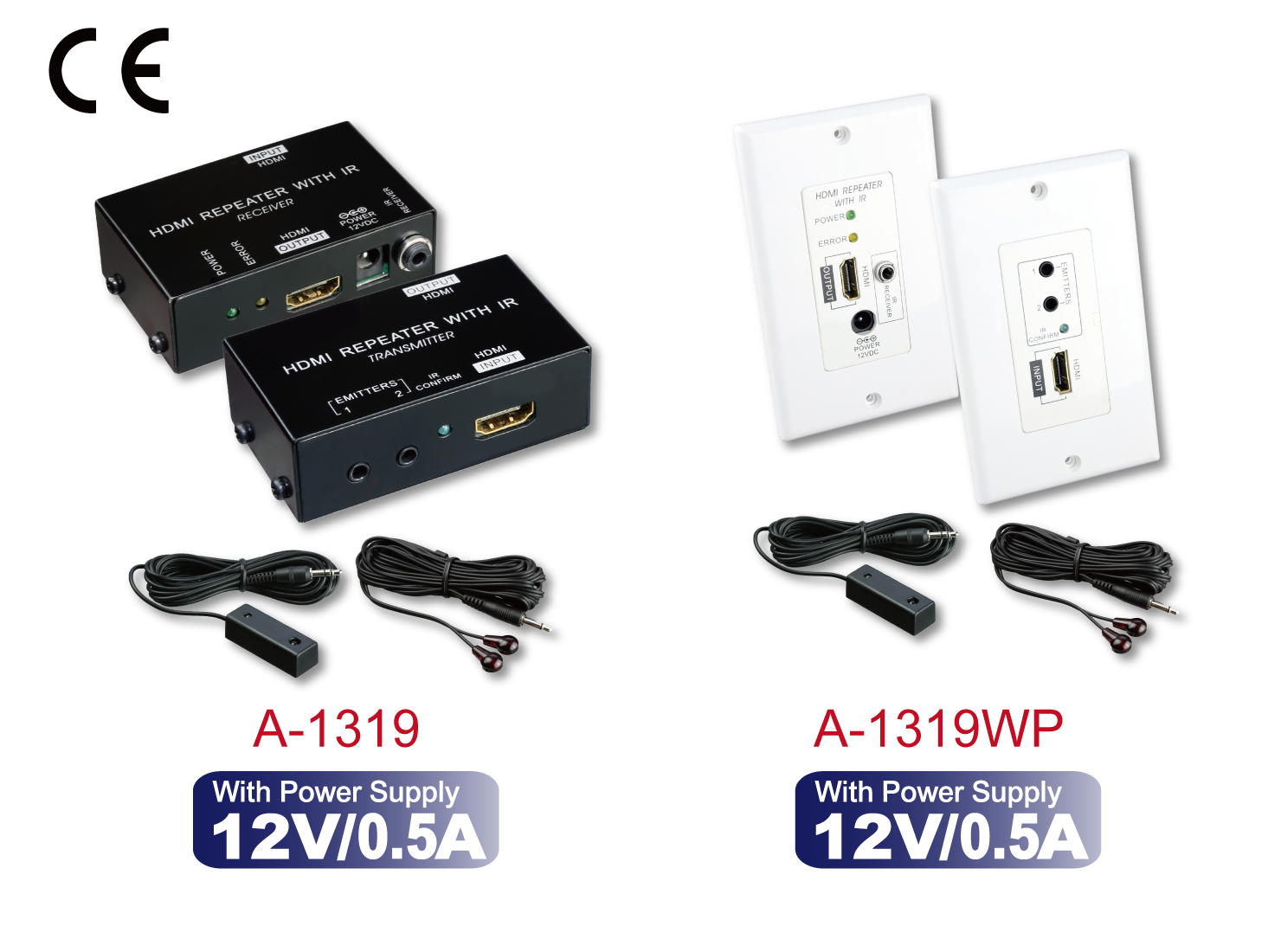 A-1319 / A-1319WP : HDMI Repeater with IR